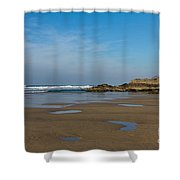 Porthtowan Cornwall Shower Curtain by Brian Roscorla