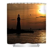 018 Sunset Series Shower Curtain by Michael Frank Jr
