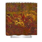 0694 Abstract Thought Shower Curtain by Chowdary V Arikatla