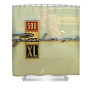 1963 Ford Galaxie Shower Curtain by Mark Dodd