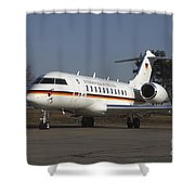 A Bombardier Global 5000 Vip Jet Shower Curtain by Timm Ziegenthaler