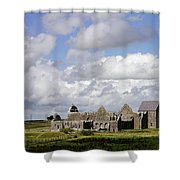 Abbeyknockmoy, Cistercian Abbey Of Shower Curtain by The Irish Image Collection
