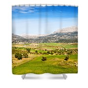 Andalusia Landscape In Spain Shower Curtain by Artur Bogacki