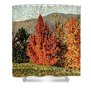 Autumn Landscape Shower Curtain by Henri-Edmond Cross