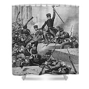 Battle Of Chapultepec, 1847 Shower Curtain by Granger