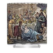 Belshazzars Feast Shower Curtain by Granger