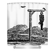 Bewick: Hanged Man Shower Curtain by Granger