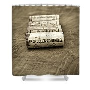 Bordeaux Wine Corks Shower Curtain by Frank Tschakert