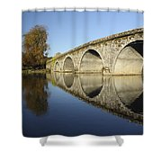 Bridge Over River Nore Bennettsbridge Shower Curtain by Trish Punch