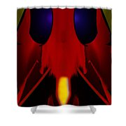 Bug Shower Curtain by Christopher Gaston