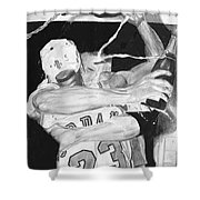 Bulls Celebration Shower Curtain by Tamir Barkan