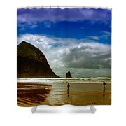 Cannon Beach At Dusk Shower Curtain by David Patterson