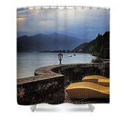 canvas chairs Shower Curtain by Joana Kruse