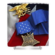 Close-up Of The Medal Of Honor Award Shower Curtain by Stocktrek Images