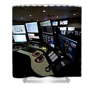 Control Room Center For Emergency Shower Curtain by Terry Moore