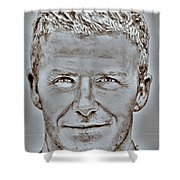 David Beckham In 2009 Shower Curtain by J McCombie