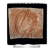 Divine Shepherd Shower Curtain by Gloria Ssali
