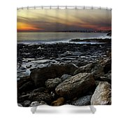 Dramatic Coastline Shower Curtain by Carlos Caetano