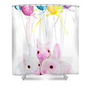 Easter bunny toys Shower Curtain by Elena Elisseeva