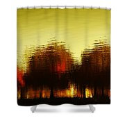 Eleven Shades Of Red Shower Curtain by Dana DiPasquale