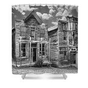 Elkhorn Ghost Town Public Halls - Montana Shower Curtain by Daniel Hagerman