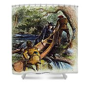 Father Jacques Marquette Shower Curtain by Granger