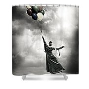 Floating Shower Curtain by Joana Kruse
