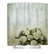 floral pattern on old paper Shower Curtain by Setsiri Silapasuwanchai