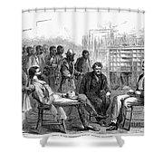 FREEDMENS BUREAU, 1866 Shower Curtain by Granger