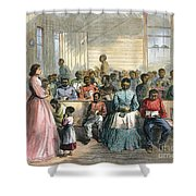 FREEDMENS SCHOOL, 1866 Shower Curtain by Granger