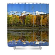 Full Moon Over East Beckwith Mountain Shower Curtain by Tim Fitzharris