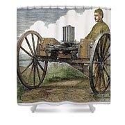 Gatling Gun, 1872 Shower Curtain by Granger