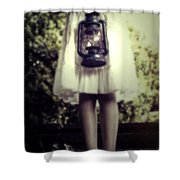 Girl With Oil Lamp Shower Curtain by Joana Kruse