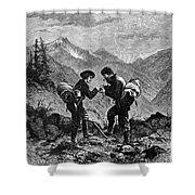 GOLD PROSPECTORS, 1876 Shower Curtain by Granger