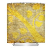 Golden Tree Pattern On Paper Shower Curtain by Setsiri Silapasuwanchai