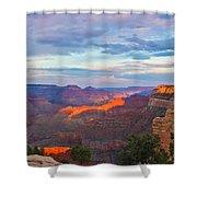 Grand Canyon Grand Sky Shower Curtain by Heidi Smith
