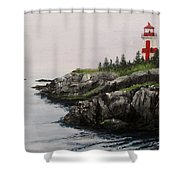 Head Harbour Lighthouse Shower Curtain by Jack Skinner