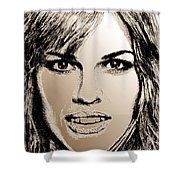 Hilary Swank In 2007 Shower Curtain by J McCombie