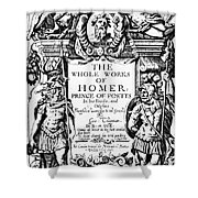 Homer Title Page, 1616 Shower Curtain by Granger