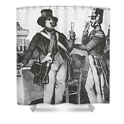 Honore De Balzac, French Author Shower Curtain by Photo Researchers