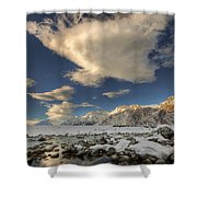 Hooker River In The Valley At Tasman Shower Curtain by Colin Monteath