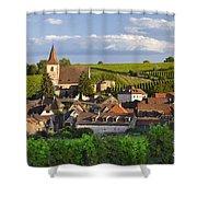 Hunawihr Alsace Shower Curtain by Brian Jannsen