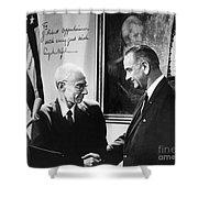 J. Robert Oppenheimer Shower Curtain by Granger