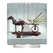 Jabber Box Shower Curtain by Jim Casey