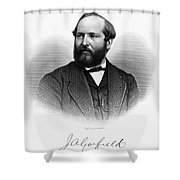 James A. Garfield (1831-1881) Shower Curtain by Granger