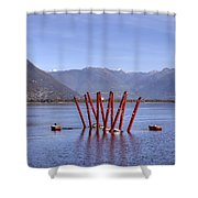 Lake Maggiore Locarno Shower Curtain by Joana Kruse