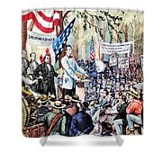 Lincoln-douglas Debate Shower Curtain by Granger