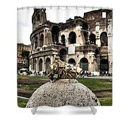 love locks in Rome Shower Curtain by Joana Kruse