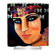Madame Butterfly Shower Curtain by Natalie Holland