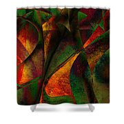 Merging Shower Curtain by Amanda Moore